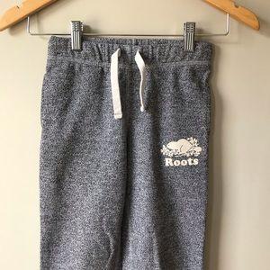 Roots Salt & Pepper Track Sweat Pants Logo Girls 8